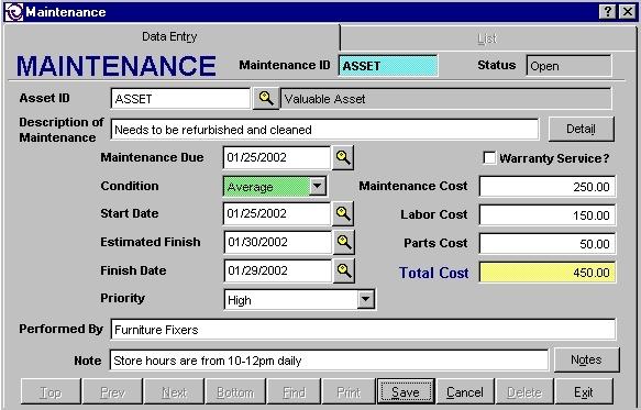 Software de Manutenção